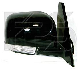 Зеркало правое электро без обогрева глянцевое 5pin с указателем поворота без подсветки Pajero 2007-