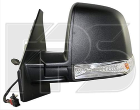 Зеркало левое электро с обогревом текстурное 6pin с указателем поворота без подсветки Single Glass Panel