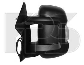 Зеркало левое ручное с обогревом с указателем поворота без подсветки с датчиком температуры Boxer 2006-14