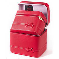Кейс для косметики и украшений  2 в 1,красный
