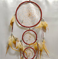 Ловец снов 3 кольца - защита от плохих снов (бордовый)