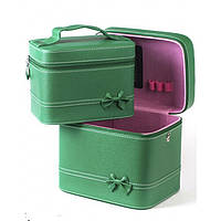 Кейс для косметики и украшений  2 в 1,зелёный