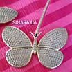 Длинные серьги Бабочки - Брендовые серьги висячие  - Серьги подвески серебряные, фото 2