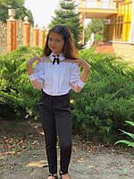 Красивая школьная блузка детская