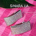 Серебряные серьги с фианитами - Серьги усыпка серебряные, фото 8