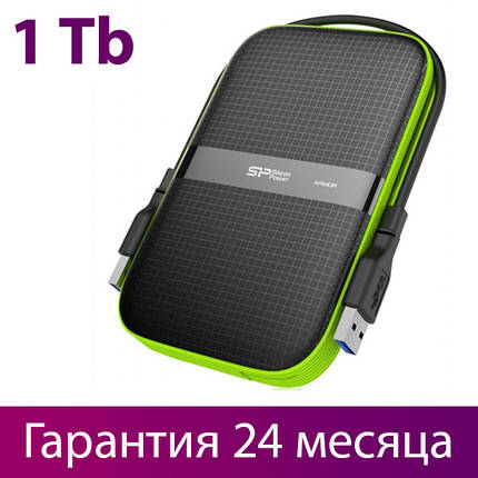 "Внешний жесткий диск 1 Тб Silicon Power Armor A60, Black, 2.5"", USB 3.0 (SP010TBPHDA60S3K), фото 2"