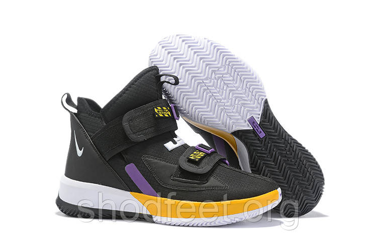 Кроссовки Nike LeBron Soldier 13 SFG EP 'Lakers' Black Yellow Purple