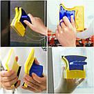 Двусторонний магнитный скребок щетка Double Side Glass Cleaner для мытья. полировки окон Gluderн Glider Глидер, фото 5