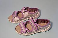 Детские текстильные открытые тапочки «Шалунишка» shalunishka для девочки с единорогом, фото 1
