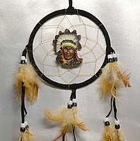 Ловец снов с индейцем - защита от плохих снов (черный)