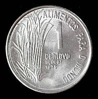 Монета Бразилии 1 сентаво 1975 г.