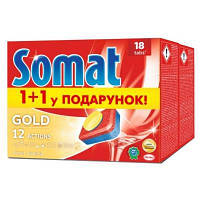 Таблетки для посудомоечных машин Somat Голд Duo 2x18шт (9000101076288)
