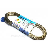 Веревка бельевая 10м (с мет. тросом внутри)