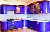 Синяя кухня на заказ.