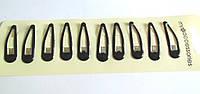 Заколки тик-так черные с силиконовым покрытием 5,5 см