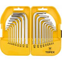 Набор инструментов Topex ключи шестигранные HEX и Torx, набор 18 шт.*1 уп. (35D952)