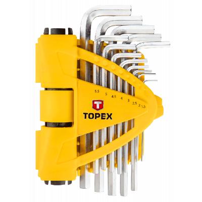 Набор инструментов Topex ключи шестигранные 1.5-10 мм, набор 13 шт. (35D970)