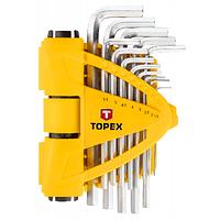 Набор инструментов Topex ключи шестигранные 1.5-10 мм, набор 13 шт. (35D970), фото 1