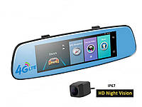 Видеорегистратор зеркало Phisung E06 4G с камерой ночного видения, фото 1