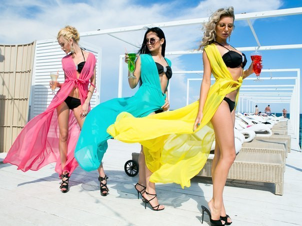 Купить шифоновую пляжную накидку