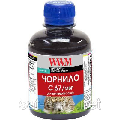 Чернила WWM Canon IPF-107MBk 200г Matte Black Pigmented (C67/MBP)