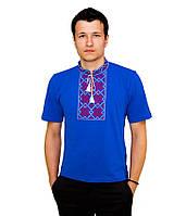 Мужская вышитая футболка гладью «Снежинка» М-616-12, фото 1