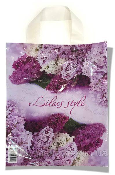 """Пакет с петлевой ручкой маленький ламинированный """"Lilacs Style"""" (23х29) 25 шт."""