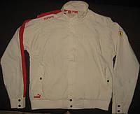 Куртка-ветровка на лето для мужчин/парней Puma Ferrari Jacket, р-р 56-58 (XL), без подкладки, хлопок/полиэстер