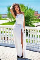 Шифоновое платье в пол с открытой спиной