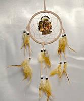 Ловец снов с индейцем - защита от плохих снов (бежевый)