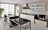 Черно-белая кухня на заказ. МДФ крашеный, фото 4