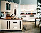 Черно-белая кухня на заказ. МДФ крашеный, фото 5