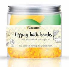 Новинки  Шарики для ванны Nacomi апельсиновый сорбет и освежающий зеленый чай, 4 полушария