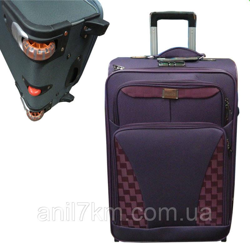Средний  дорожный чемодан на трёх колёсах