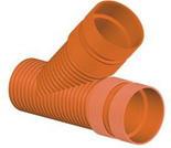 Тройник для гофрированных канализационных труб InCor 250х250/45º