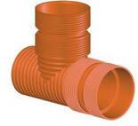 Тройник для гофрированных канализационных труб InCor 400х400/90º