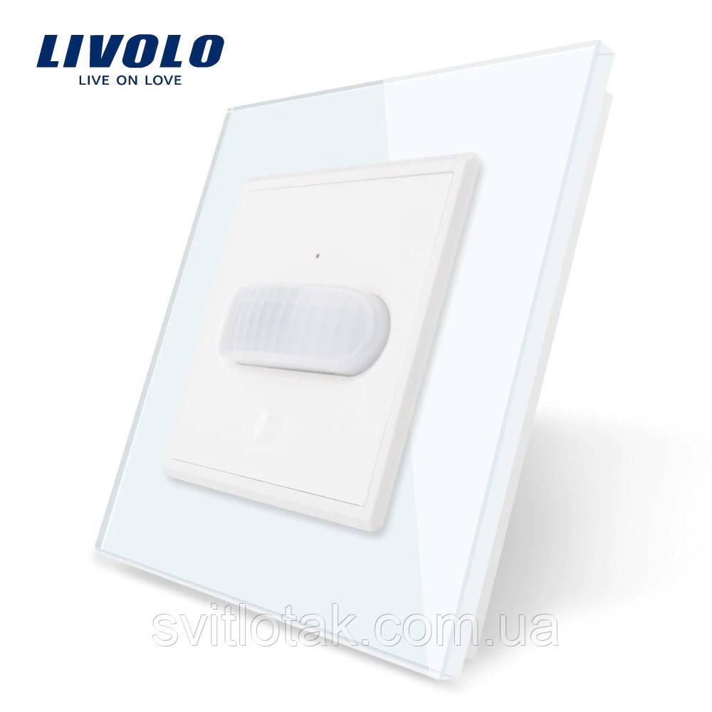 Сенсорный выключатель с датчиком движения Livolo белый стекло (VL-C701RG-11)