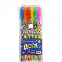 Набор цветных гелевых ароматизированных ручек 6 цветов.