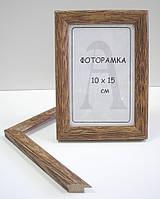 Фоторамка 10х15 см состаренный дуб (профиль 18 мм)