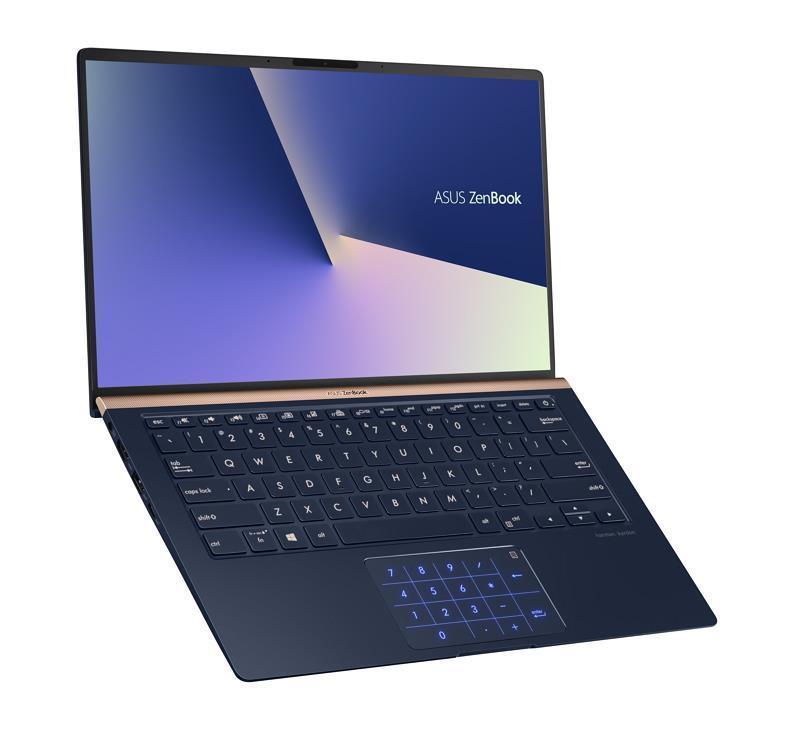 Ноутбук ASUS UX433FN-A5021T 14FHD AG/Intel i7-8565U/16/512SSD/NVD150-2/W10/Blue