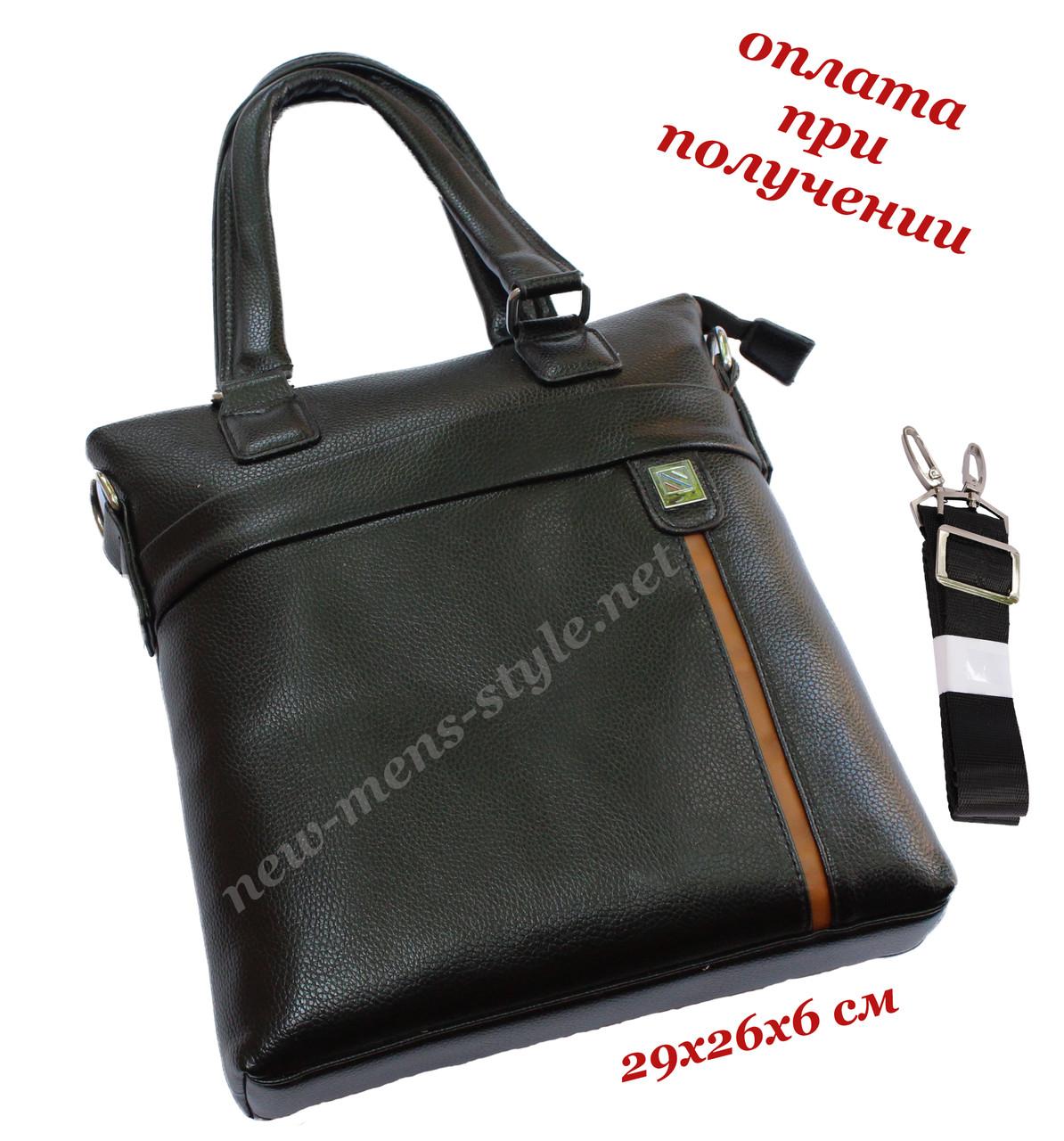Мужская чоловіча кожаная фирменная деловая сумка портфель для документов