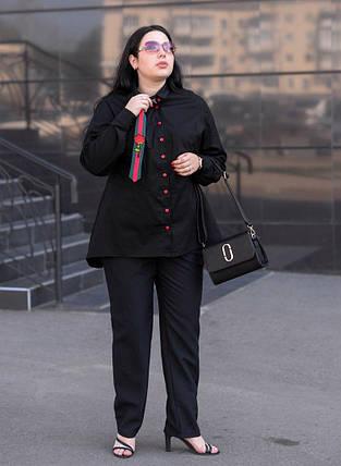 Женская рубашка с баской в деловом стиле батал с 48 по 82 размер, фото 2