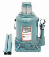 Домкрат бутылочный 20т низкий с клапаном (h min 190мм, h max 335мм)с дополнительным ремкомплектом
