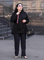 Женская рубашка с баской в деловом стиле белая батал с 48 по 82 размер, фото 3
