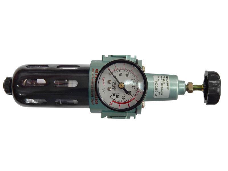"""Фильтр тонкой очистки 5Мк с регулятором и манометром для пневмосистем 1/4"""""""
