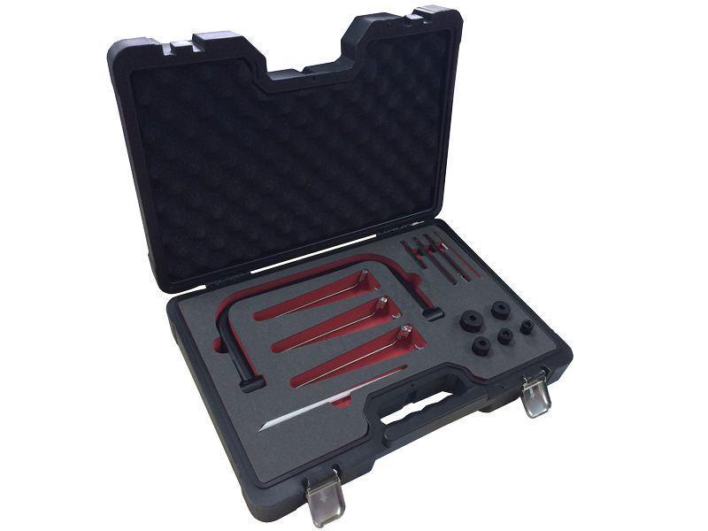Рассухариватель клапанов струбцинного типа с комплектом магнитных щипцов и сменных адаптеров (размеры адаптеро