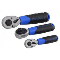 """Трещотка реверсивная короткая 1/2""""L-170мм с резиновой ручкой (72зуб)"""
