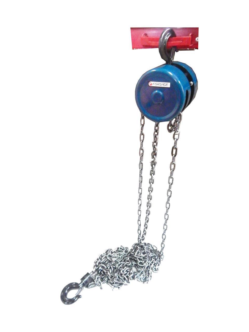 Лебедка механическая подвесная с фиксацией цепи натяжения, 3т (длина цепи - 3м)