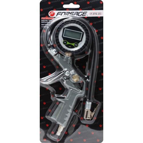 Пистолет для подкачки шин с цифровым манометром и шлангом, в блистере