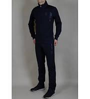Модный спорт-костюм для парней, из темно-синей эластичной ткани, Puma Ferrari, с фирменными логотипами